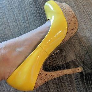 Striking yellow J.Lo heels